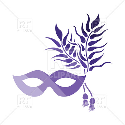 400x400 Party Carnival Mask Icon Royalty Free Vector Clip Art Image
