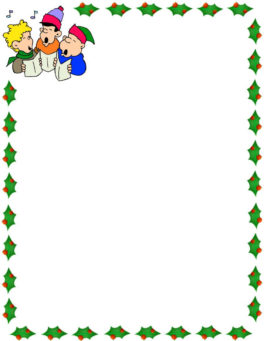 850x1100 Clip Art Xmas Borders Christmas Carolers Border De Papelitos Y