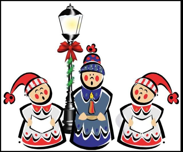 639x531 Great Clip Art Of Snowmen And Carolers Three Little Carolers