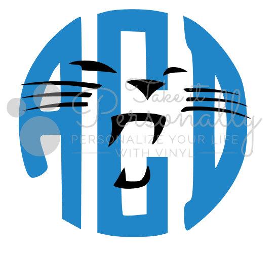 549x519 Carolina Panthers Monogram Decal