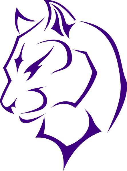 444x597 Panther Clipart Purple