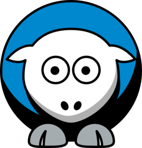 285x298 Sheep 4 Toned Carolina Panthers Team Colors Clip Art