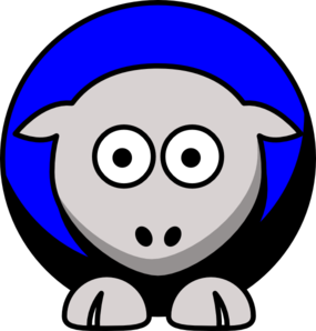 285x298 Sheep Colors 4 Black, Blue, Silver And White Clip Art