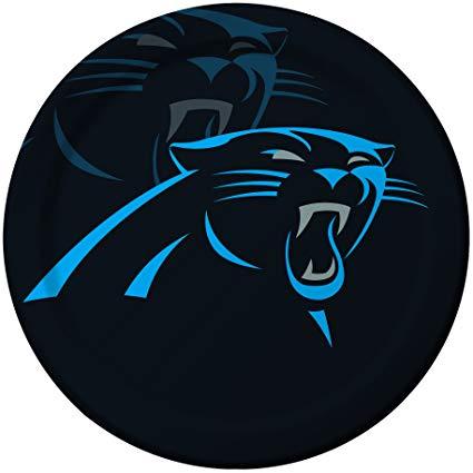 425x425 Creative Converting 8 Count Carolina Panthers Paper