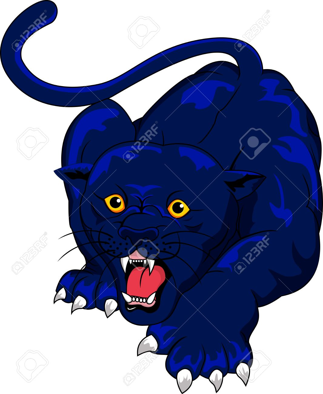 1066x1300 Blue Clipart Panther