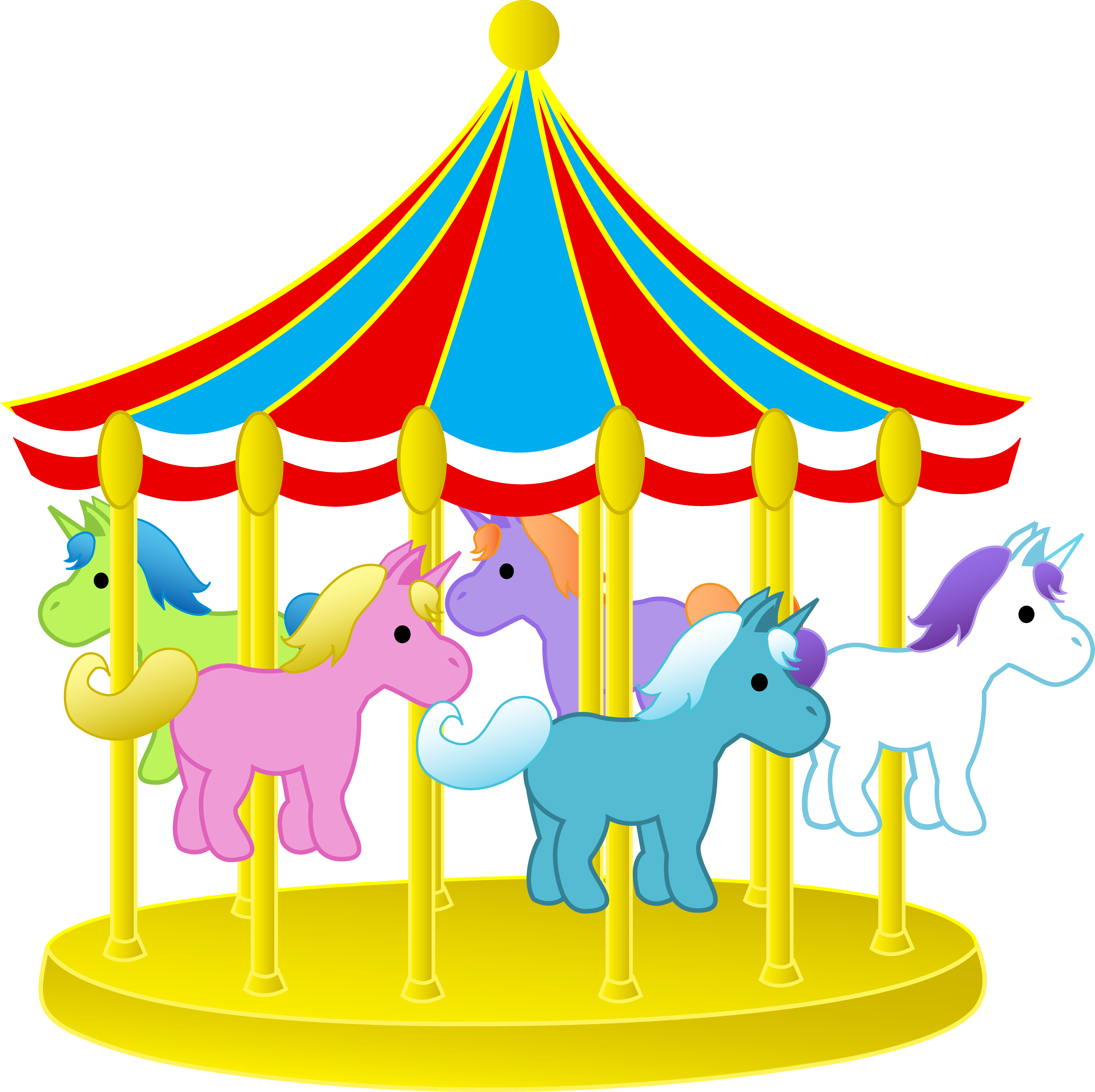 3999x3987 Carousel Clipart Many Interesting Cliparts