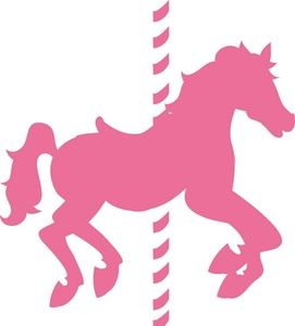 271x300 Carousel Horse Clipart Image Pink Carousel Horse In Silhouette