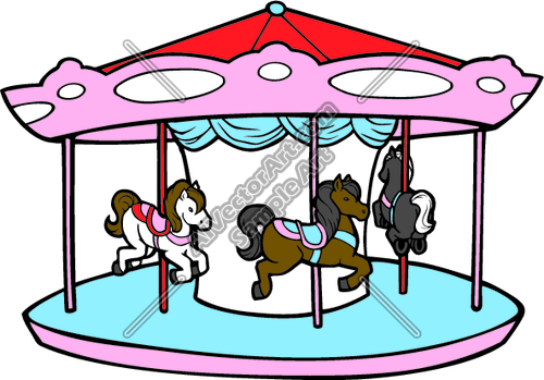 500x349 Carousel Clipart ~ Frames ~ Illustrations ~ Hd Images ~ Photo