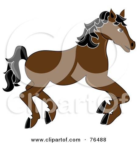 450x470 Royalty Free (Rf) Clipart Illustration Of A Yellow Carousel Horse