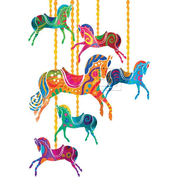 600x600 Carousel Horses Liked On Polyvore Featuring Home, Home Decor