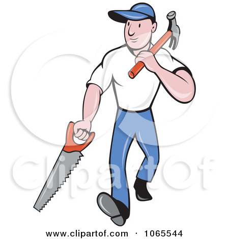 450x470 Carpenter With Hammer Clipart