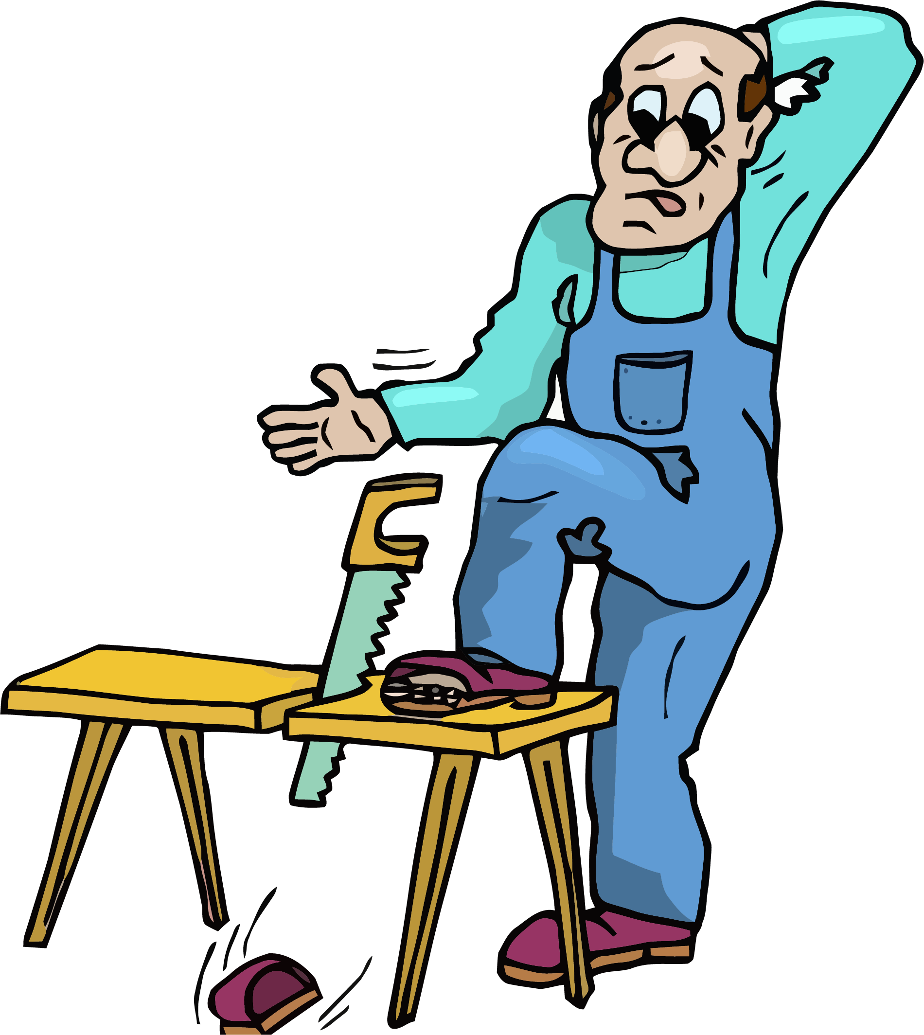 1900x2128 Caution Carpenter Clipart Png