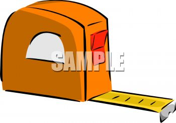 350x244 Orange Carpenters Tape Measure
