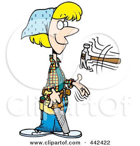 450x470 Royalty Free (Rf) Clip Art Illustration Of A Cartoon Construction