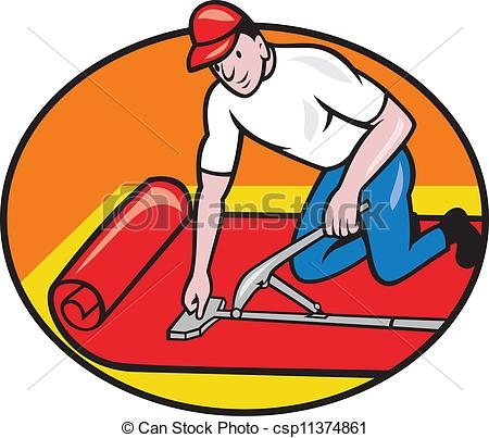 450x403 Carpet Laying Clipart