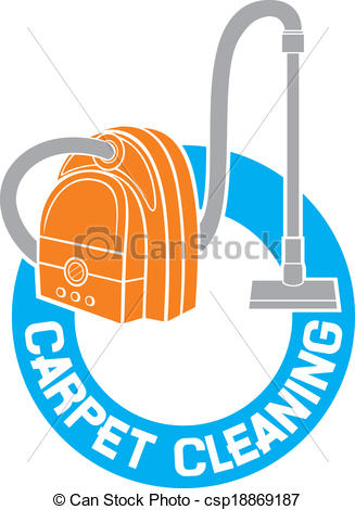327x470 Carpet Cleaning Service Sign (Carpet Cleaning Label) Vector