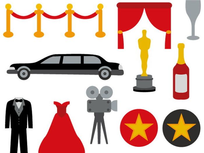 700x525 Hollywood Movie Night Clip Art Bundle