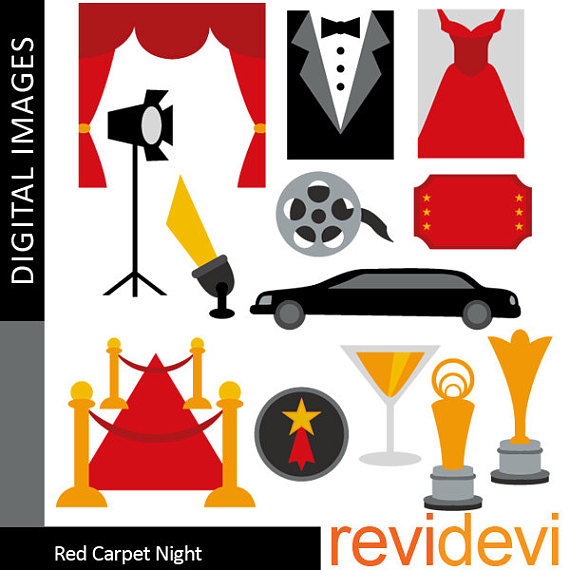 570x570 Red Carpet Party Clipart Sale Commercial Use Hollywood Movie