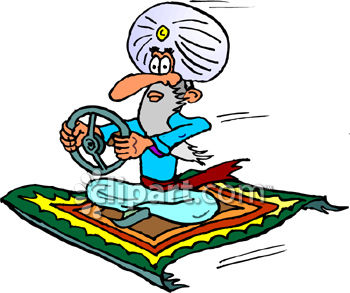 350x293 Royalty Free Clip Art Image Man Driving A Magic Carpet