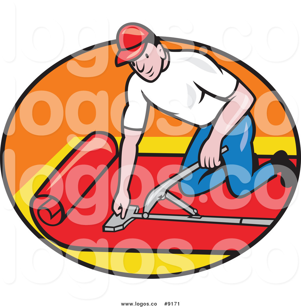 1024x1044 Royalty Free Clip Art Vector White Male Carpet Layer Worker In
