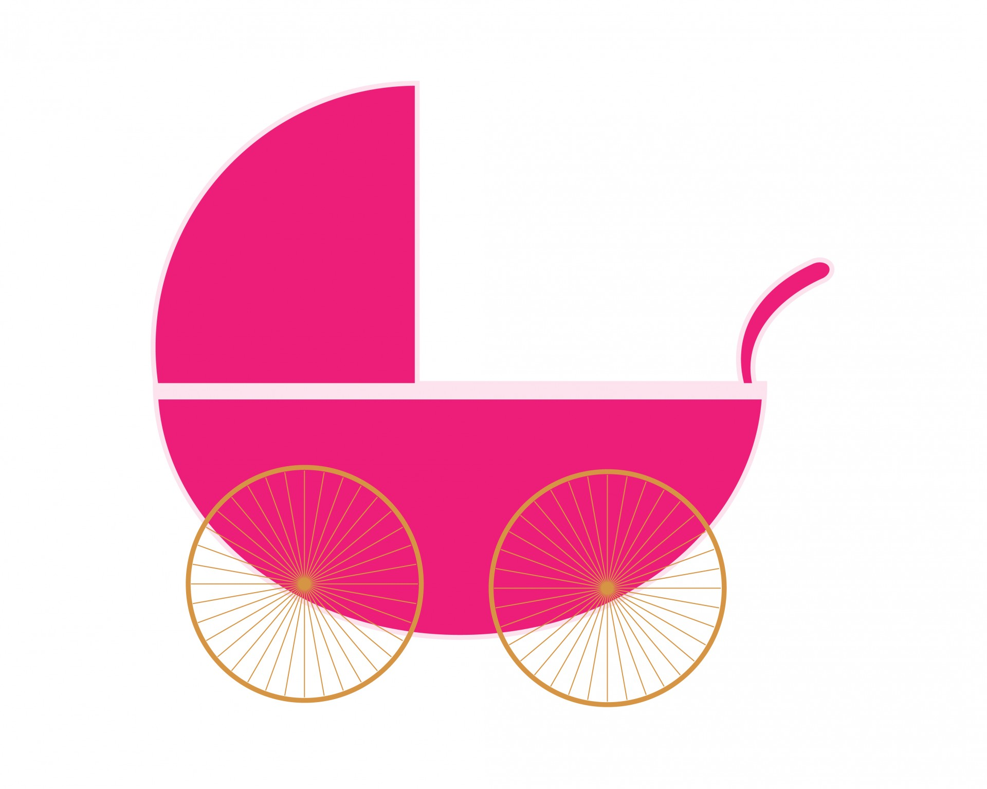 1920x1535 Carriage Clipart Pink Stroller
