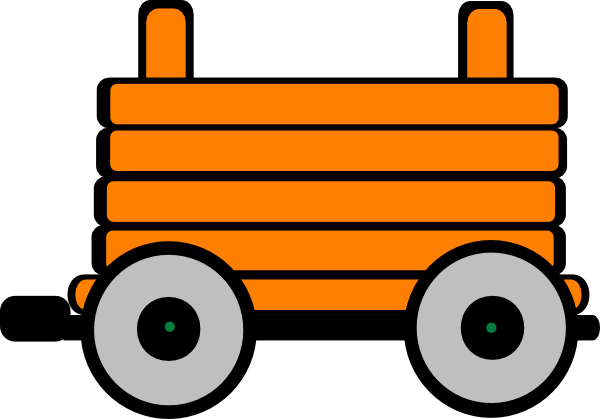 600x419 Loco Train Carriage Clip Art