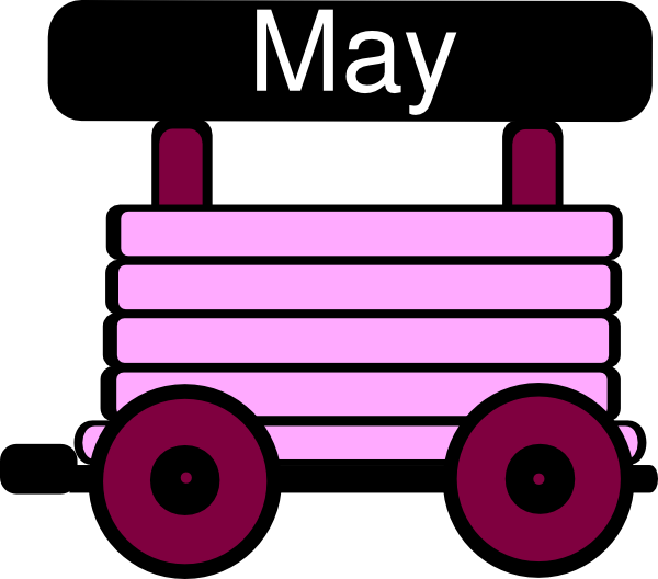 600x528 Loco Train Carriage Pink Clip Art