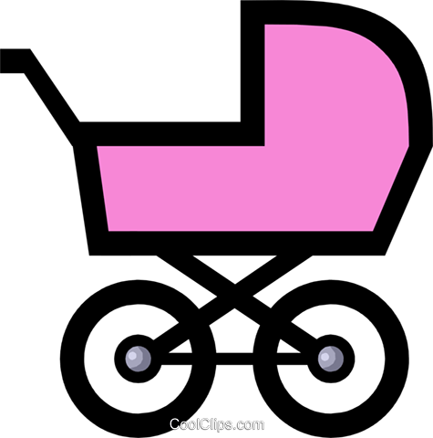 475x480 Symbol Of A Baby Carriage Royalty Free Vector Clip Art