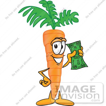 450x450 Clip Art Graphic Of An Organic Veggie Carrot Mascot Character