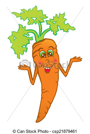 318x470 Smiling Carrot. Cartoon Happy Carrot Isolated On White Clip Art