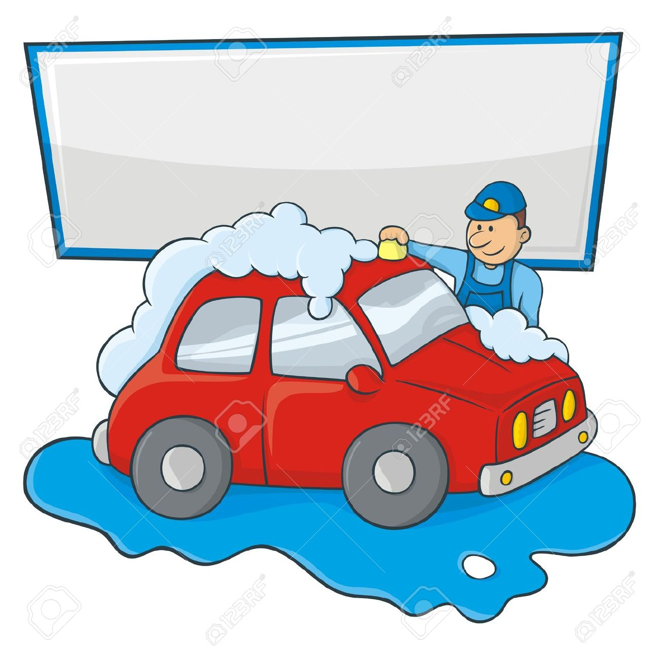 1300x1300 Clipart Person Washing Car