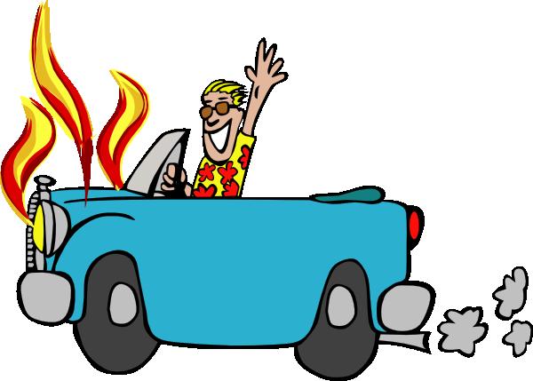 600x429 Car Fire Clipart