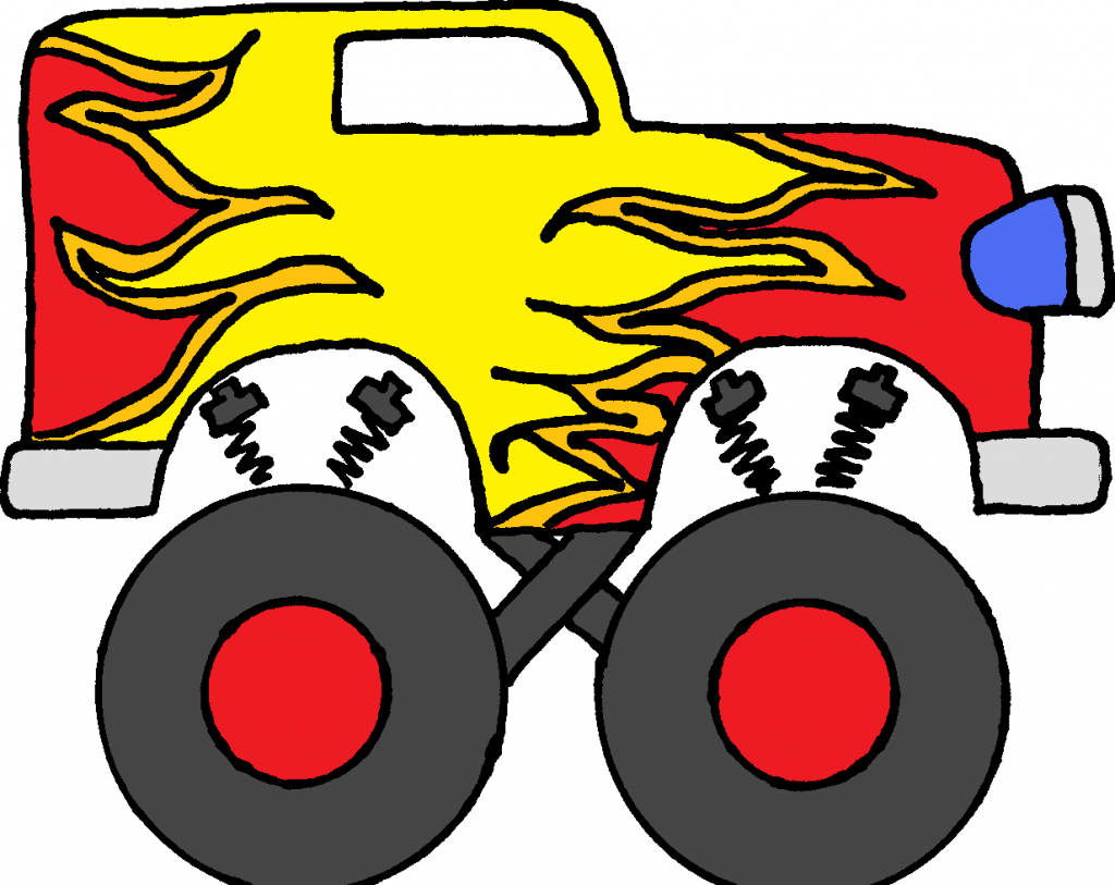 1024x813 Monster Truck Clipart Free Clip Art