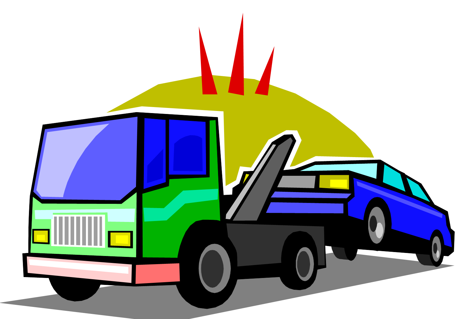 1532x1058 Tow Truck Png Clipart