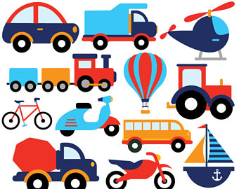340x270 Transportation Clip Art Cute Vehicles Transport Set Perfect