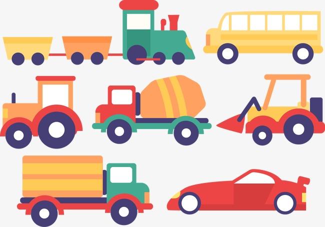 650x454 Vector Cartoon Cars Trucks Vans, Vector, Cartoon, Car Png