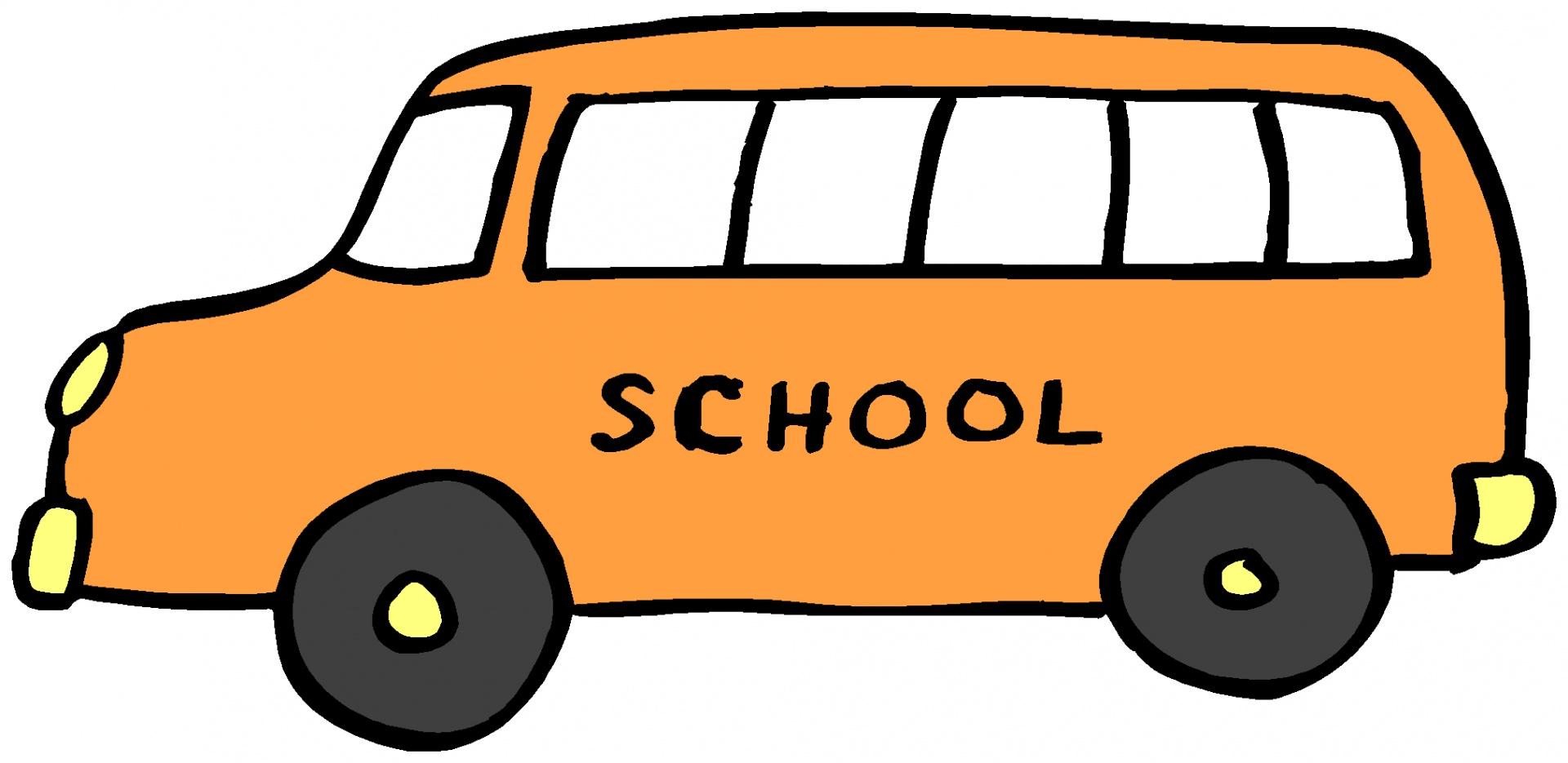 1920x935 School Bus Clip Art Black And White Image