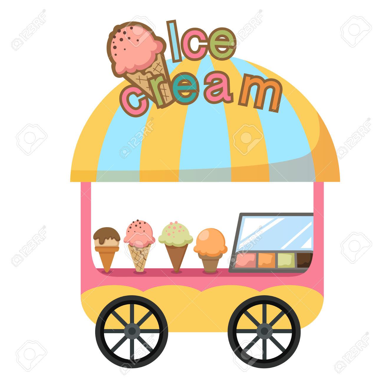 1300x1300 Ice Cream Cart Clipart 101 Clip Art