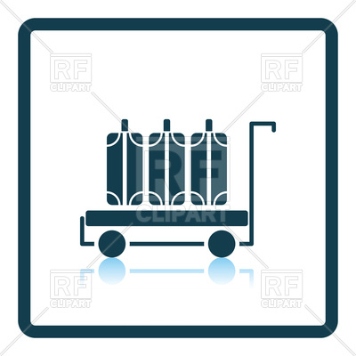 400x400 Luggage Cart Icon Royalty Free Vector Clip Art Image