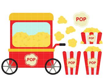 340x270 Popcorn Cart Clipart