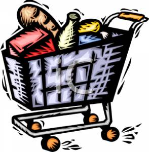 294x300 Royalty Free Clipart Image A Shopping Cart Full Of Food