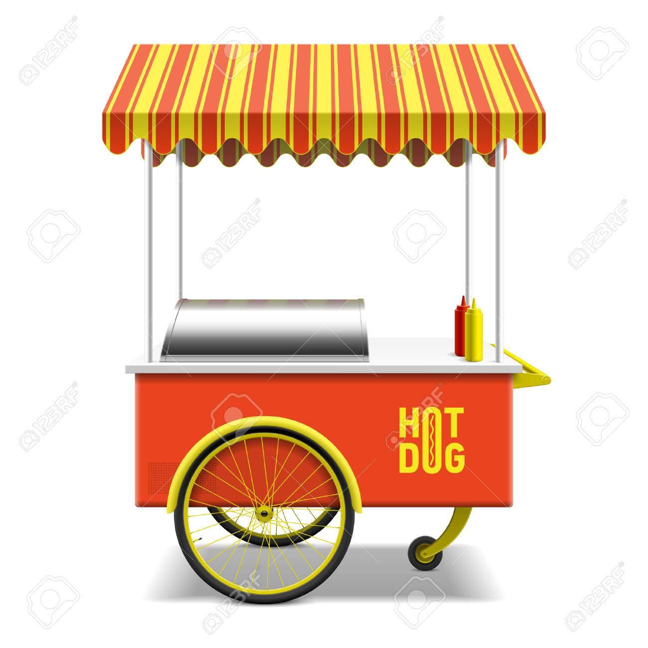 1300x1300 Hot Dog Stand Clipart 30674497 Hot Dog Street Cart