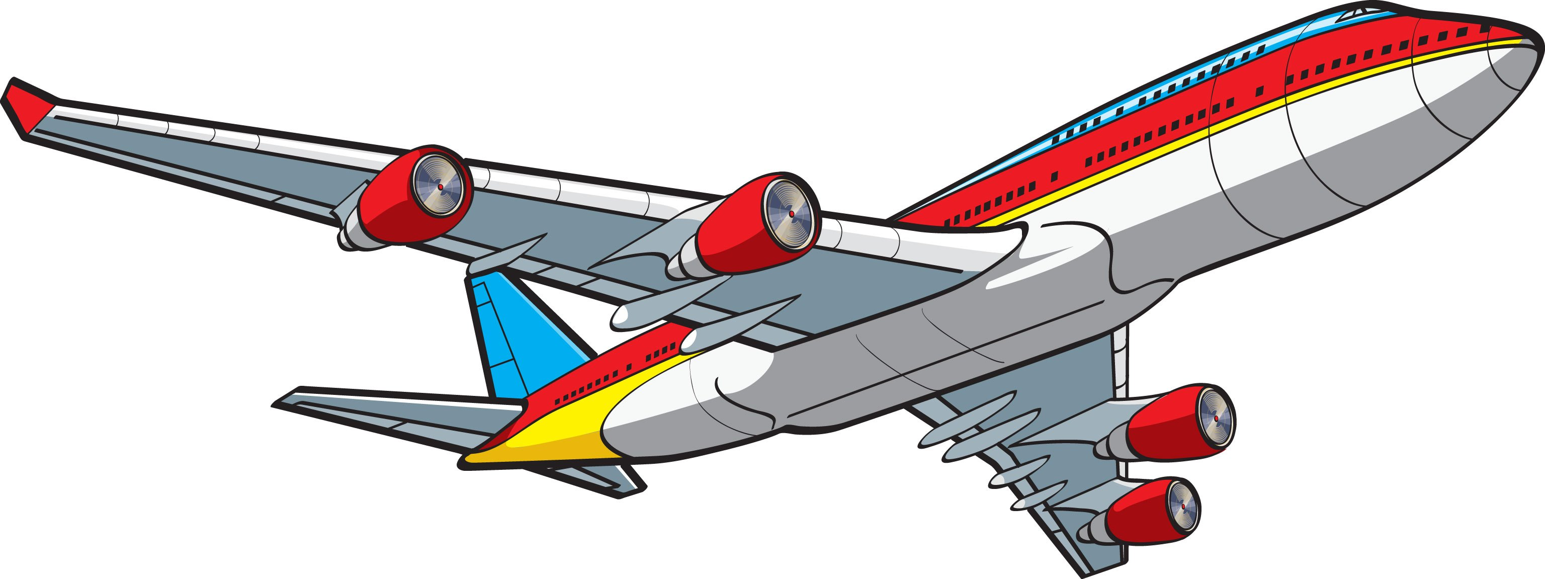 3072x1151 Free Cartoon Airplane Clipart Cartoonview.co