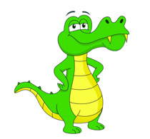 210x195 Free Alligator Clipart