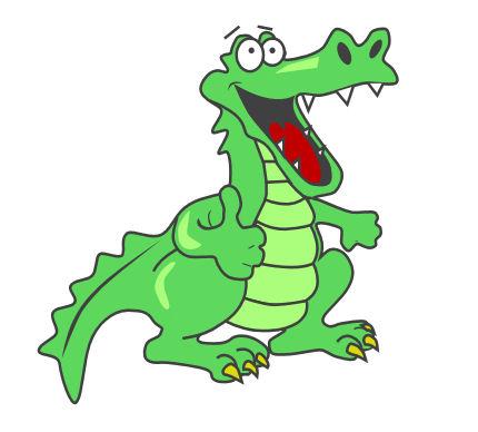 430x388 Free Alligator Clipart