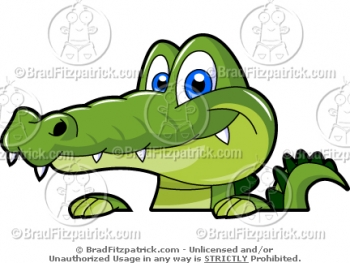 350x263 Alligator Clip Art
