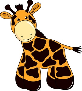 272x300 Baby Giraffe Giraffes Cartoon Animal Images Clip Art Image