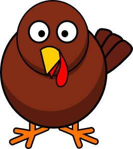 267x299 Turkey Round Cartoon Clip Art