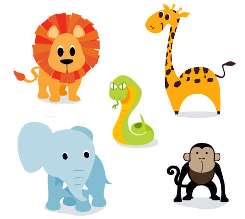 500x448 Baby Animal Clipart Cartoon