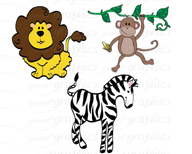 800x640 Clipart Of Jungle Animals